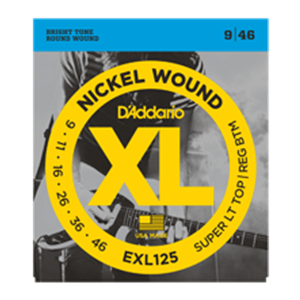 D'addario EXL125 Light Top/Regular Bottom Gauge Guitar Strings 9-46