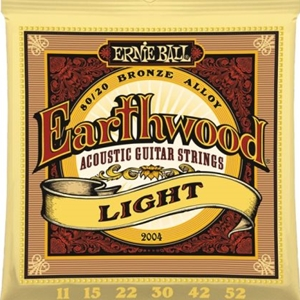 Ernie Ball Earthwood Light Gauge 80/20 Bronze Guitar Strings, .11-.52