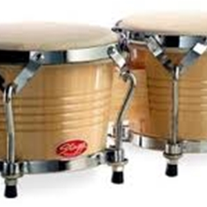 "Stagg Wood Bongo 7.5"" and 6.5"" in Natural Finish"
