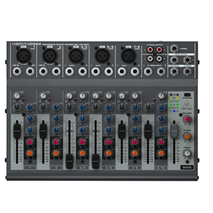 Behringer 1002B Premium 10-Input Mixer with XENYX Preamps, British EQs and Optional Battery Op