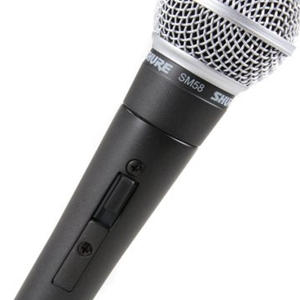 Shure SM58S Cardioid Dynamic Microphone w/ On-Off Switch