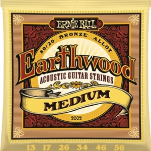 Ernie Ball Earthwood Medium Gauge 80/20 Bronze Guitar Strings, .13-.56