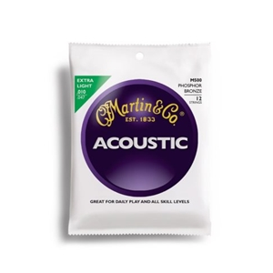 Martin M500 12 String Extra Light Gauge Phospher Bronze Guitar Strings