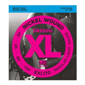D'addario EXL170 Nickel Wound Long Scale Bass Strings 45/100