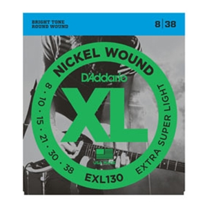 D'addario EXL130 Extra Super Light Gauge Nickel Wound Guitar Strings 8-38