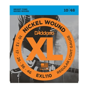 D'addario EXL110 Regular Light Gauge Nickel Wound Guitar Strings 10-46