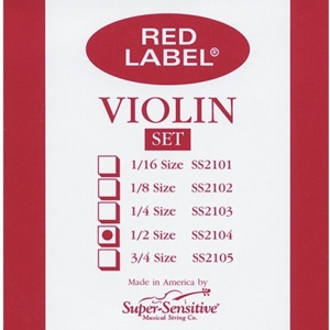 Super Sensitive 1/2 Size Violin Strings