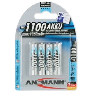 Ansmann 1100 mAH AAA Rechargeable Batteries