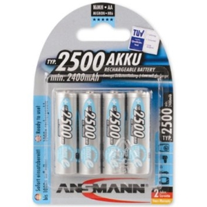 Ansmann 2500 Mah AA Rechargable NiMH MaxE Batteries
