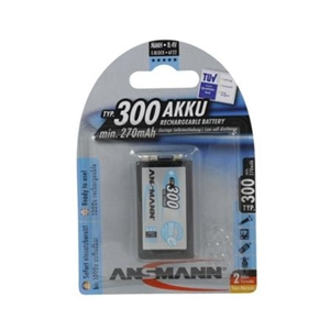 Ansmann 300mah 9V  Rechargeable Battery