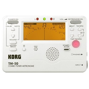 Korg Full Feature Tuner/Metronome  Pearl White