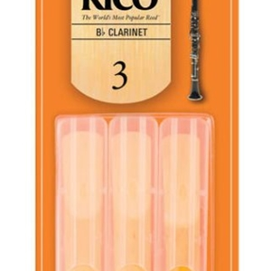 Rico 3 Pack Clarinet Reeds #3