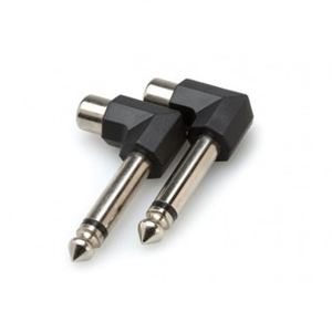 "Hosa Right Angle RCA Female to 1/4"" TS Male (2PC)"