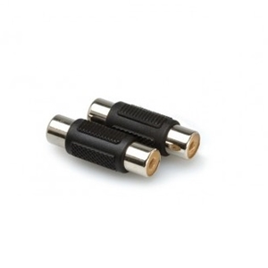 Hosa RCA to RCA Coupler (2 Pieces)