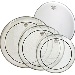 "Remo 12,13,16 Clear Pinstripe w/ Free 14"" Coated Ambassador Drumhead"