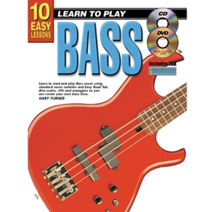 10 Easy Lessons for Bass Guitar with CD and DVD