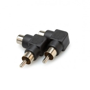 Hosa Right Angle Adapter RCA - RCA 2PC