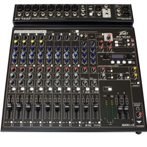 Peavey PV14AT 14 Channel Unpowered Mixer with Bluetooth and Auto-tune