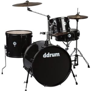 DDrum D2Rock 4-Piece Drumset  with Cymbals in Black Sparkle Finish