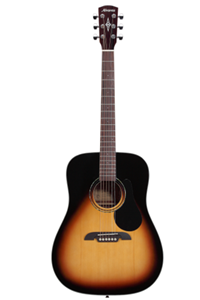 Alvarez Regent Series RD26 Acoustic Guitar in Sunburst Finish with Deluxe Gig Bag