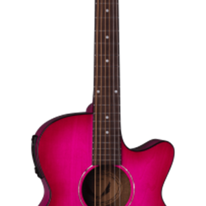 Dean Axcess Performer Acoustic/Electric Guitar in Pink Burst