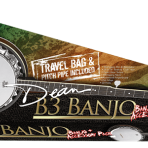 Dean B3 Banjo Pack with Gig bag, Strap, and Pitch Pipe