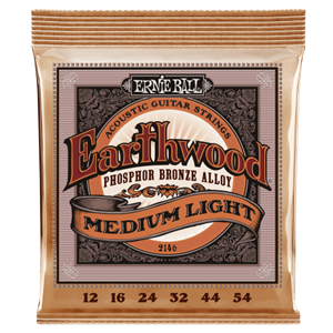 Ernie Ball Earthwood Phospher Bronze Medium-Light Gauge Acoustic Guitar Strings
