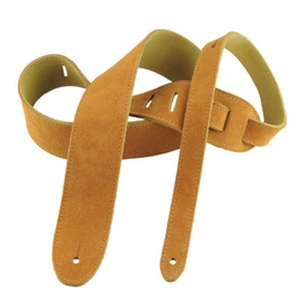 "Henry Heller 2"" Basic Suede Guitar Strap in Honey"