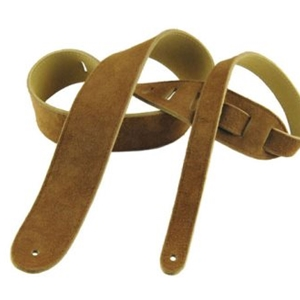 "Henry Heller 2"" Basic Suede Guitar Strap in Rust"
