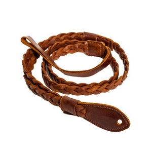 Henry Heller Capri Garment Leather Flat Braid Mandolin Strap