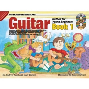 Progressive Guitar Method for the Young Beginner Book 1 with CD/DVD