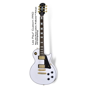 Epiphone Les Paul™ Custom Pro Electric Guitar in Alpine White
