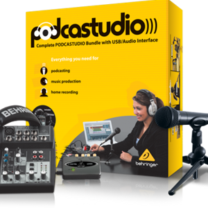 Behringer PodcastStudio USB Complete PODCASTUDIO Bundle with USB/Audio Interface