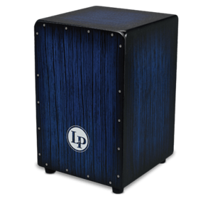 Latin Percussion Aspire® Accent Cajon in Blueburst Streak Finish