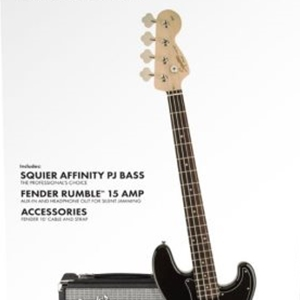 Fender® Squier® Affinity Series™ Precision Bass® Pack in Black