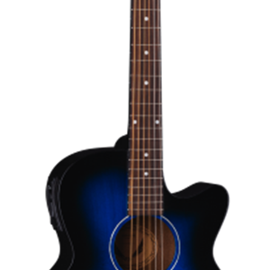Dean AXS Performer Acoustic/Electric Guitar in Blue Burst Finish