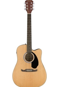 Fender® FA125CE Dreadnought Acoustic/Electric Guitar in Natural Finish