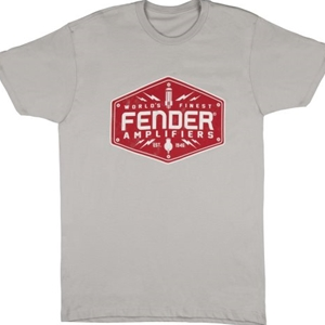 Fender® Bolt Down Men's Shirt, Silver- Large