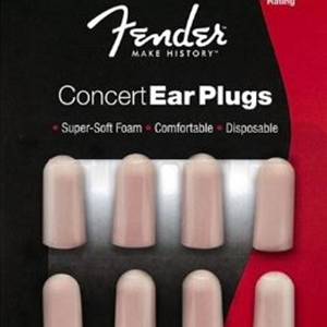Fender Concert 4 sets of Foam Ear Plugs