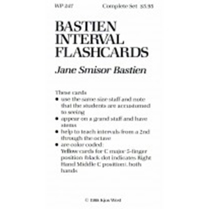 Bastien Interval Flash Cards