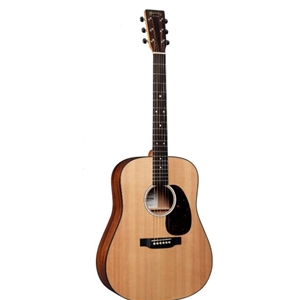 Martin D10E Acoustic Electric Guitar in Natural Finish with Soft Shell Case Included