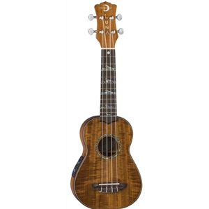 Luna High Tide Soprano Koa Ukulele with Preamp and Case