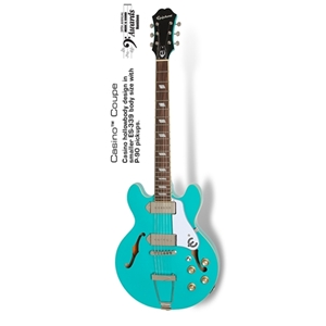 Epiphone Casino Coupe Hollowbody Guitar in Turquoise