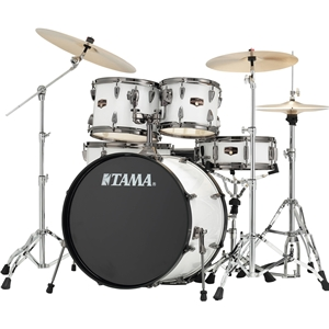Tama Imperialstar 5 Piece Drumset w/ Cymbals & Hardware in Sugar White