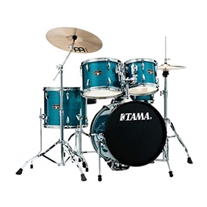 Tama Imperialstar 5 Piece Drumset w/ Cymbals & Hardware in Hairline Blue