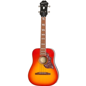 Epiphone Hummingbird Acoustic-Electric Tenor Ukulele in Faded Cherry