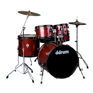 Ddrum 5 Piece Red Pinstripe Complete Drumset