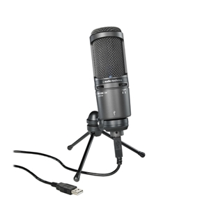 Audio Technica AT2020USB+ Cardiod Condender USB Microphone with Stand