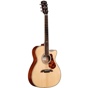 Alvarez Masterworks Acoustic-Electric All Solid Wood in Folk Size with Hardshell Case