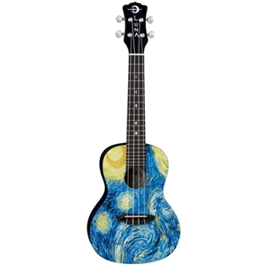 Luna Concert Ukulele with Starry Night Design